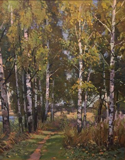 TM Nicholas, 'Russian Birch Trees Along the Volga', 2018