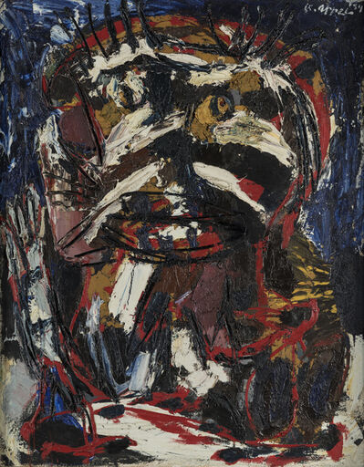 Karel Appel, 'Man with a brush cut', 1954