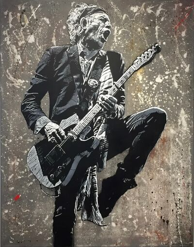 Jef Aérosol, 'Keith Richards', 2018
