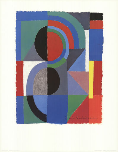 Sonia Delaunay, 'Viertel (no text)', 1989