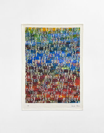 Ghada Amer, 'Untitled (based on Sunset with Words - RFGA, 2013)', 2020