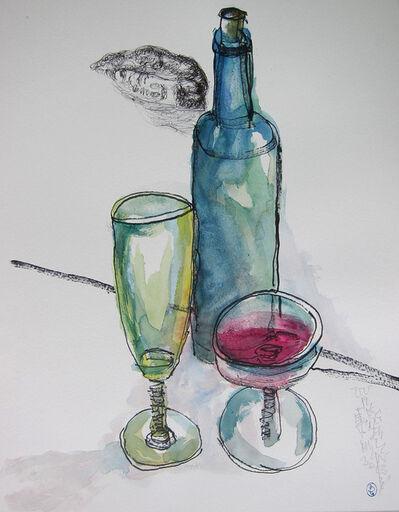 Wang Dalin, 'Wine, lip & glass', 2013