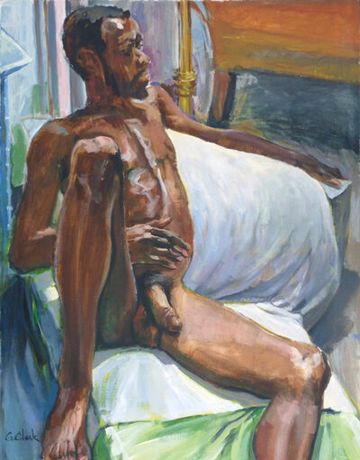 George C Clark, 'Seated Male Nude', 2017