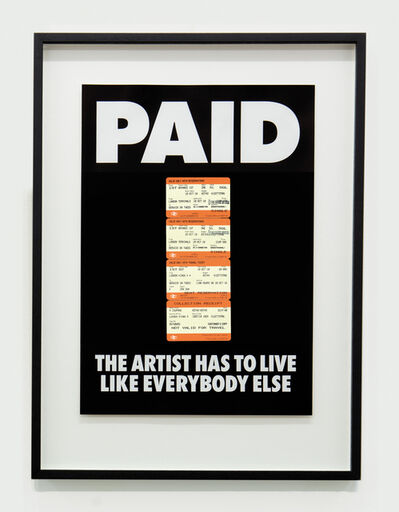 Billy Apple, 'PAID: The Artist Has to Live Like Everybody Else, 4 x British Rail tickets: £219 Kings X London to Berwick on Tweed ', 1987-2018