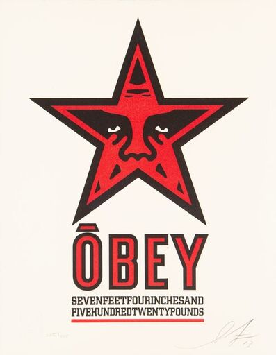 Shepard Fairey, 'Obey Star Letterpress', 2013