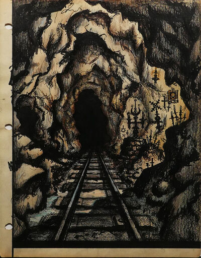 Renaldo Kuhler, 'Ojallic Shrines Line Mine Tunnel Tracks ', 1959