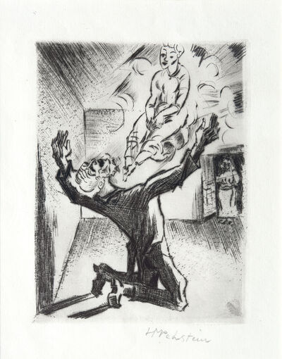 Max Pechstein, 'Martha Appears to Teuber', 1918