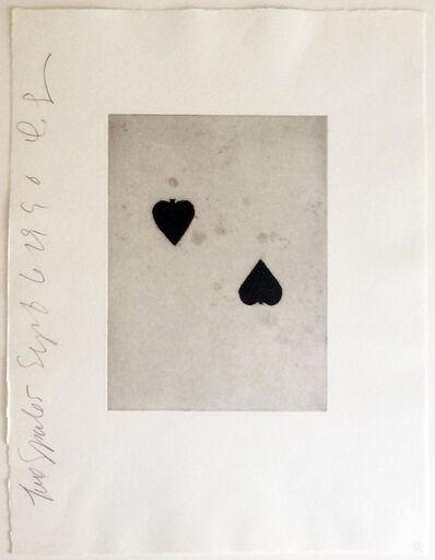 Donald Sultan, 'Two Spades', 1990