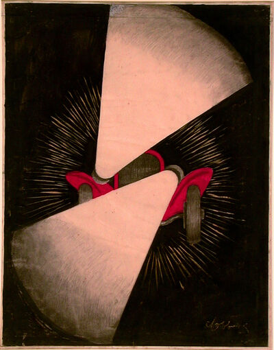 Leonetto Cappiello, 'BASSFAR HEADLIGHTS - MAQUETTE / ORIGINAL ART WORK', c.1927