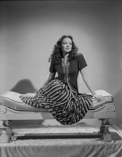 Robert Coburn, 'Gene Tierney Seated on Lounging Chair, an Archival Print', 1941