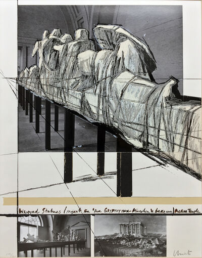 Christo, 'Wrapped Statues (Project for Der Glyptotek in Munich Aegean Temple)', 1988