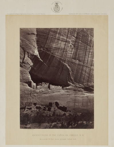 Timothy H. O'Sullivan, 'Ancient Ruins in the Cañon de Chelle, New Mexico', 1873