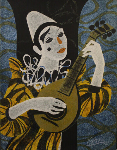 Yves Ganne, 'Clown Blanc A La Mandolin ', Unknown