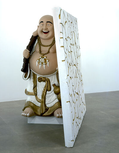 Rachel Harrison, 'Buddha with Wall', 2004