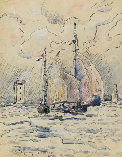 Paul Signac, 'Bateau dans le Havre', 1925