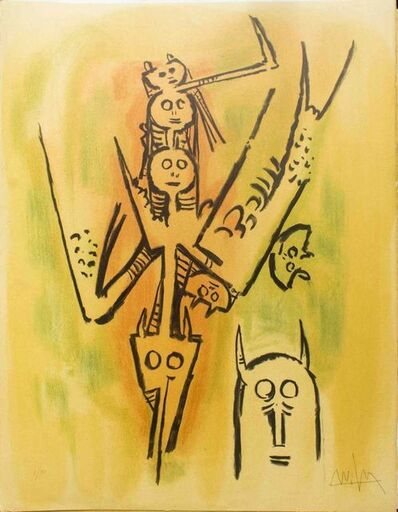 "Wifredo Lam, 'Laissez-moi l'enjamber - from the suite ""Pleni Luna""', 1974"