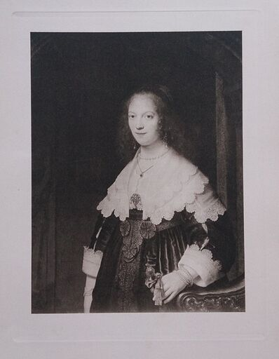 Rembrandt van Rijn, 'Portrait d'une Dame', ca. 1910