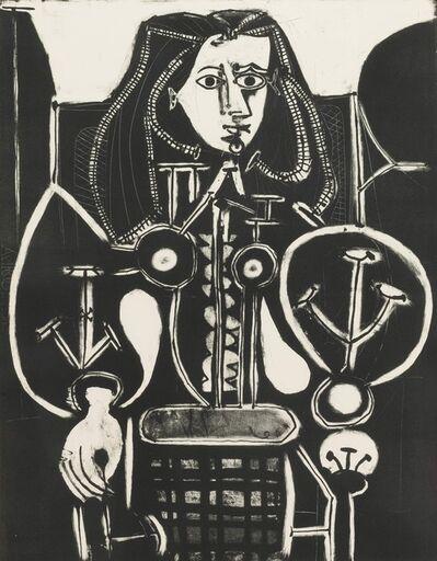 Pablo Picasso, 'Femme Au Fauteuil No 4 (d'aprés le violet), [Armchair Woman No. 4 (from the violet)]', 1948