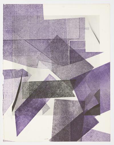 Austin Thomas, 'Purple arrows faded black', 2019