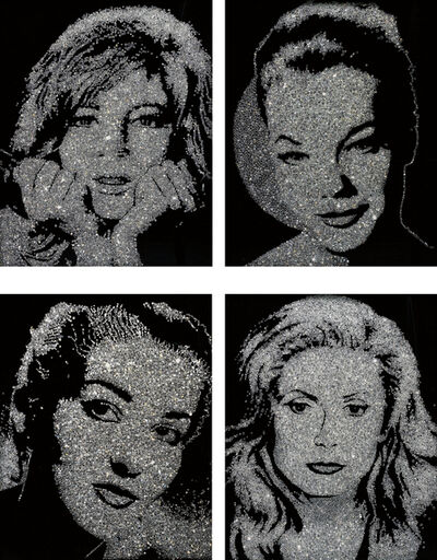 Vik Muniz, 'Four Works: (i) Monica Vitti; (ii) Romy Schneider; (iii) Maria Callas; (iv) Catherine Deneuve; (from Pictures of Diamond Dust)', 2004