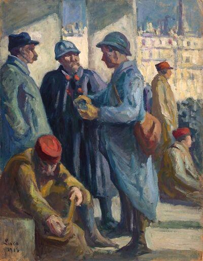 Maximilien Luce, 'Le Depart des Troupiers', 1915