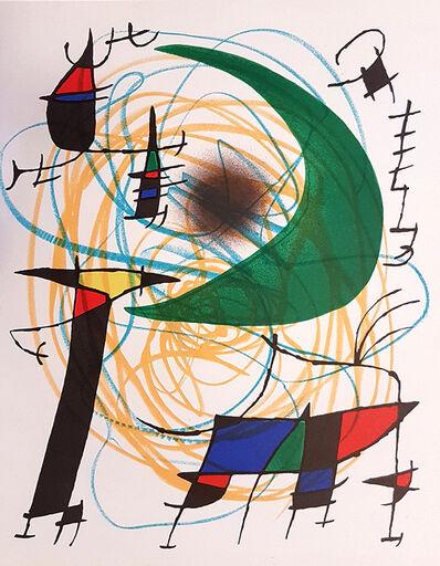 Joan Miró, 'Mirò Lithographe I - Plate V', 1972