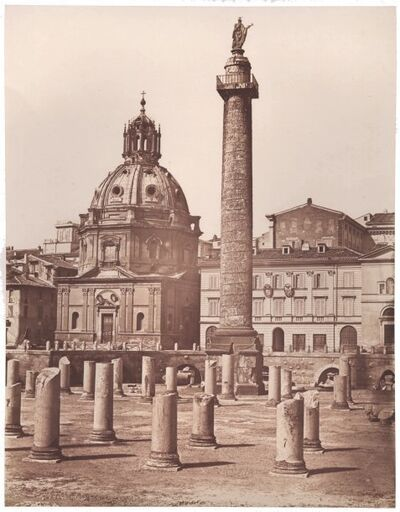 James Anderson, 'Trajan's Column and Forum, Rome', 1852c
