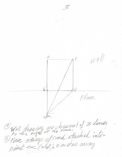 David Lamelas, 'Instrucciones para Situación de un rectángulo en dirección al alfa', 2018