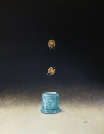Alison Rankin, 'Turquoise Glazed Pot with Physalis', 2020