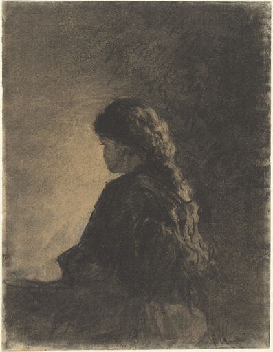William Morris Hunt, 'Seated Girl', ca. 1875