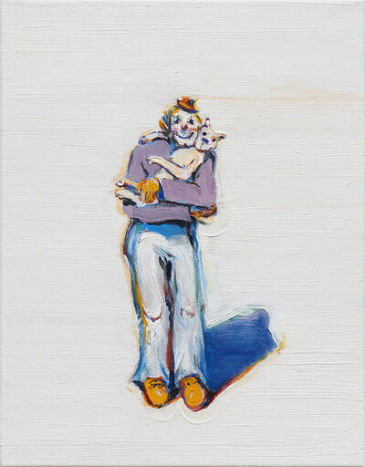 Wayne Thiebaud, 'Clown and Puppy', 2015