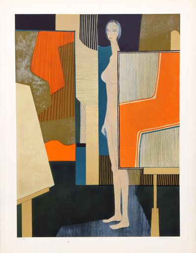 André Minaux, 'Nude in Artist's Studio', ca. 1970