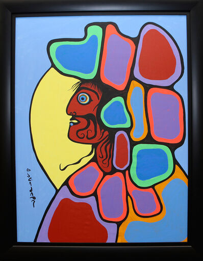 Norval Morrisseau, 'Chief with Headdress', 1986