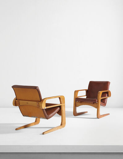 "Kem Weber, 'Pair of ""Air Line"" armchairs from Disney Studios, Burbank, California', designed 1934"