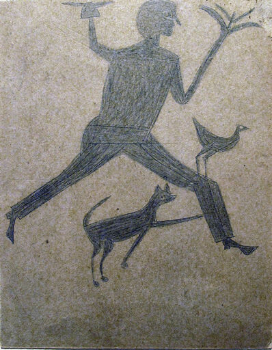 Bill Traylor, 'Untitled Man w Sprouting Hand', ca. 1940