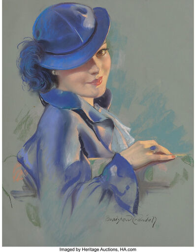 Bradshaw Crandell, 'Lady in Blue, probable magazine cover'