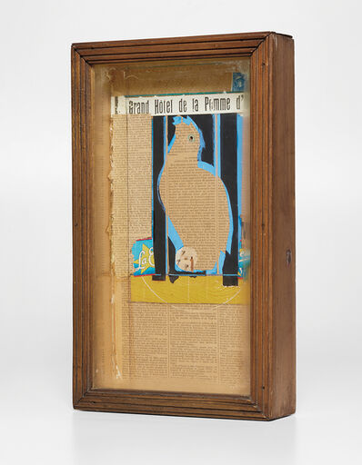 Joseph Cornell, 'Untitled (Parrot Collage; Grand Hotel de la Pomme d'Or)', 1954-1955