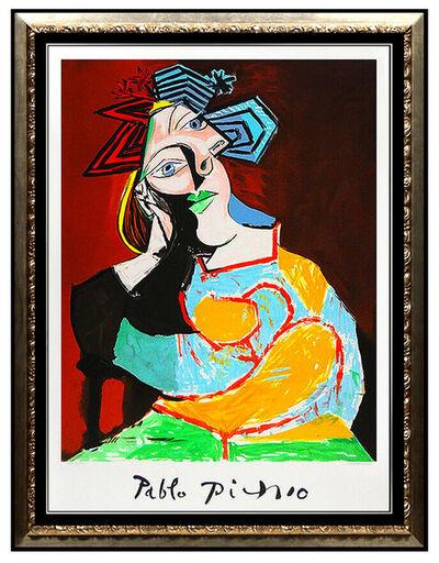 Pablo Picasso, 'Femme Accoudee au Drapeau Bleu et Rouge', 1982