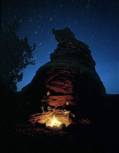 Mark Klett, 'Fire at Hoodo Camp, 16 degrees, Paria Plateau, 12/2/00', 2000