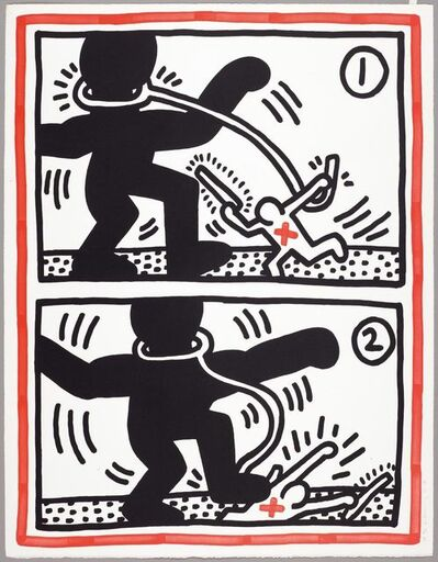 Keith Haring, 'Aus: Untitled (Free South Africa)', 1985