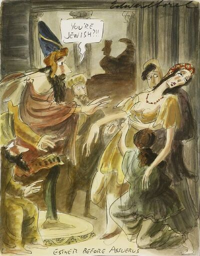 Edward Sorel, ''ESTHER BEFORE ASSUERUS''
