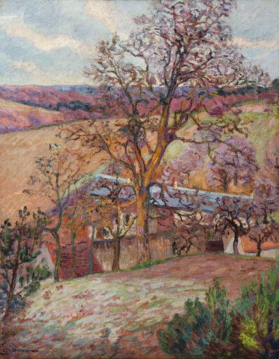 Jean Baptiste Armand Guillaumin, 'Ferme et arbres à Saint-Chéron', 1893