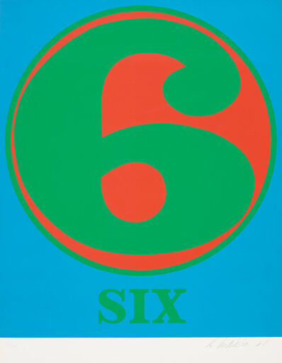 Robert Indiana, 'Six, from Numbers', 1968