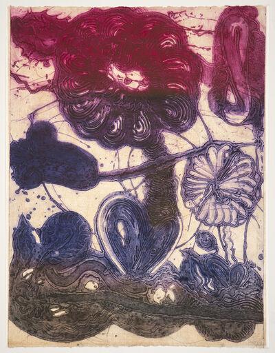 Catherine Howe, 'Garden (daisy, magenta, violet, pheasant)', 2019