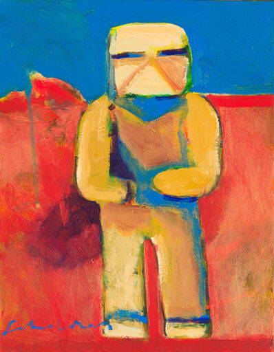 Fritz Scholder, 'Kachina (Red Background)', 2003