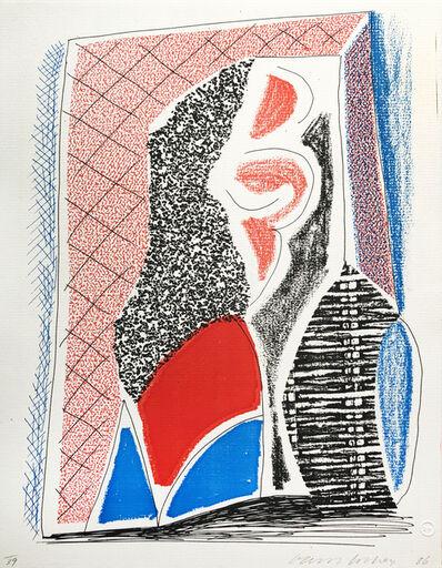 David Hockney, 'Red, Blue & Wicker', 1986