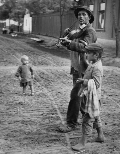 André Kertész, 'Blind Musician, Abony, Hungary', 1920