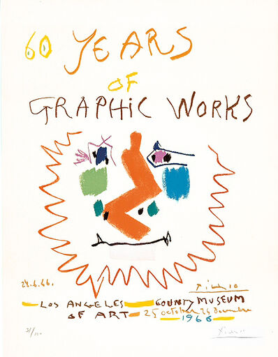 Pablo Picasso, '60 Years of Graphic Works', 1966