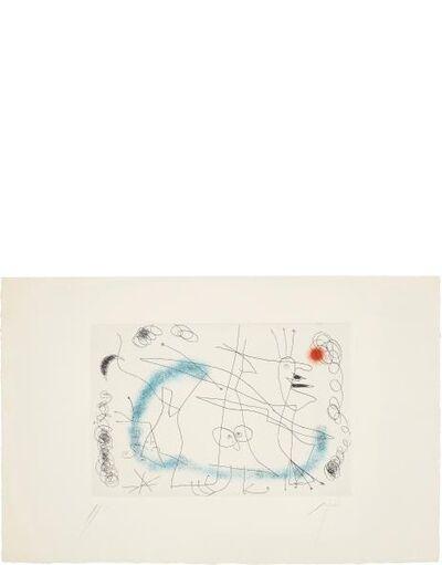 Joan Miró, 'Strip-Tease in Blue', 1959