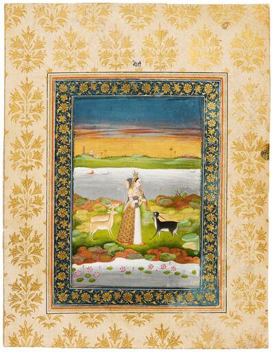 India, Provincial Mughal, 'A Leaf from a Ragamala Series: Todi Ragini', 1800